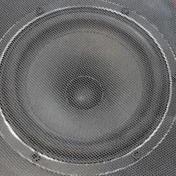 Tissu Acoustique pour grilles Hauts Parleurs (Noir) 150x100cm