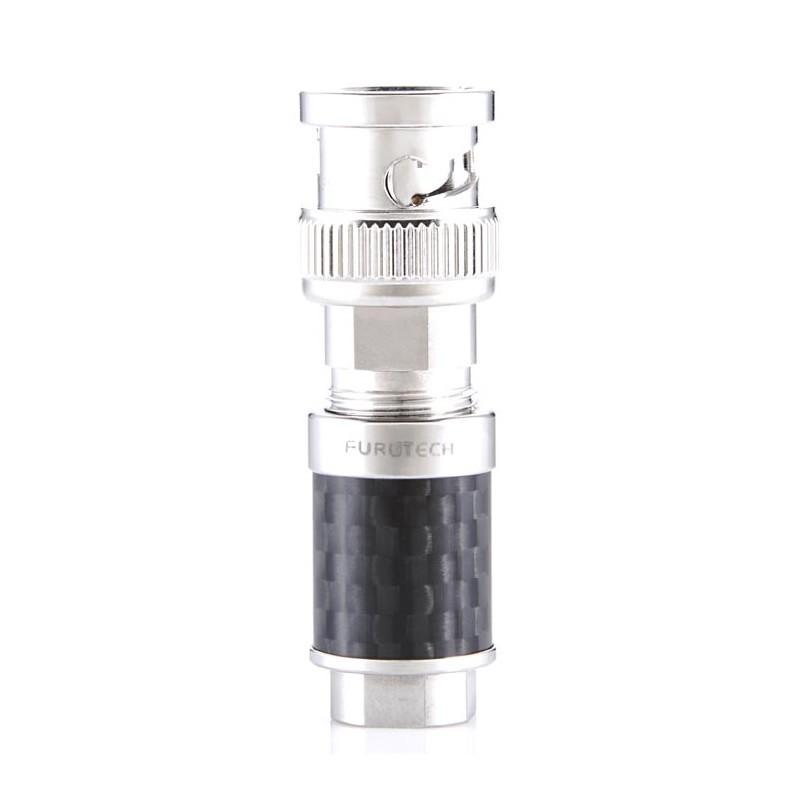 FURUTECH CF-BNC (R) BNC connector Rhodium Phosphore Bronze 75 Ohm Ø 8mm