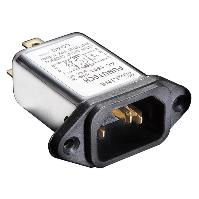 FURUTECH AC-1501 (G) Embase IEC C13 plaquée Or Filtre EMI 230V 15A