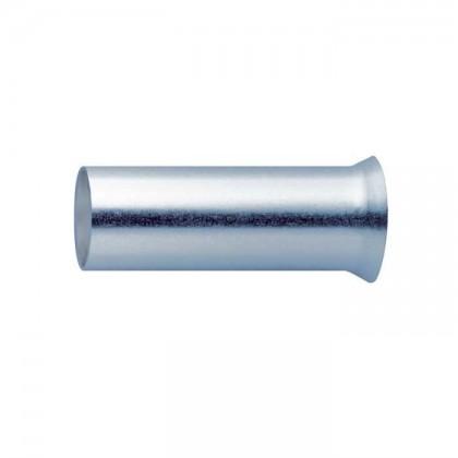 Embouts de câble plaqués Argent 2.5mm² (7.5mm) x10