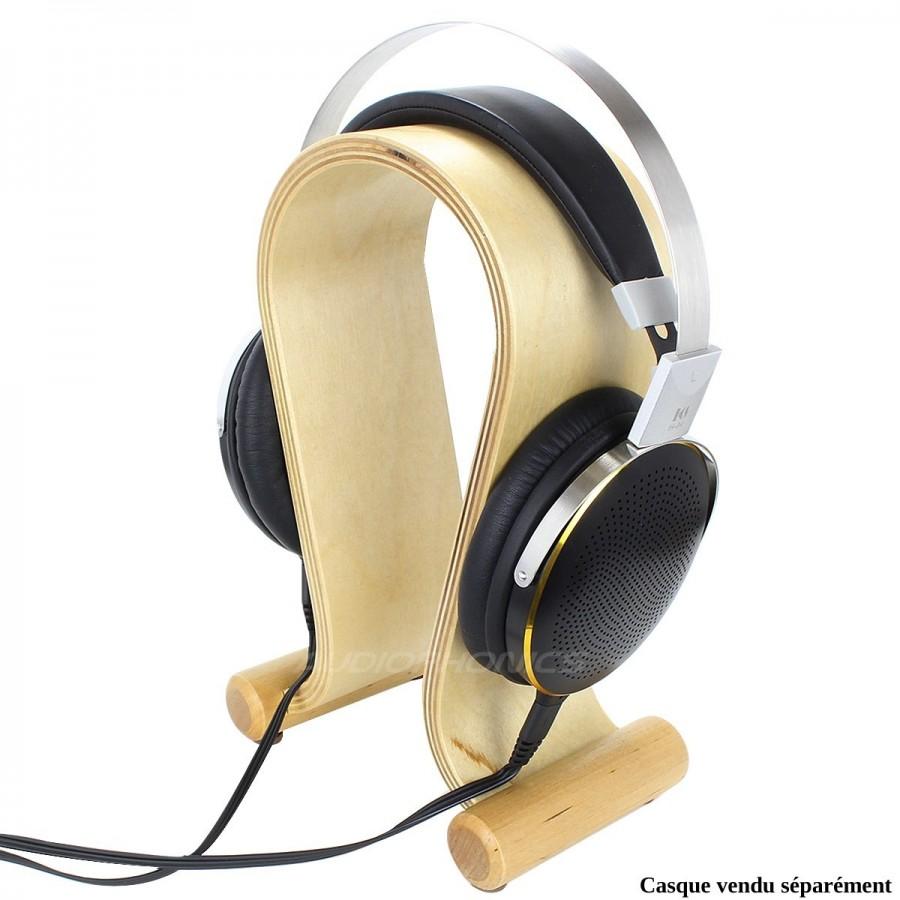 Dynavox Kh 500 Support De Casque Bois Hifi Bouleau Audiophonics