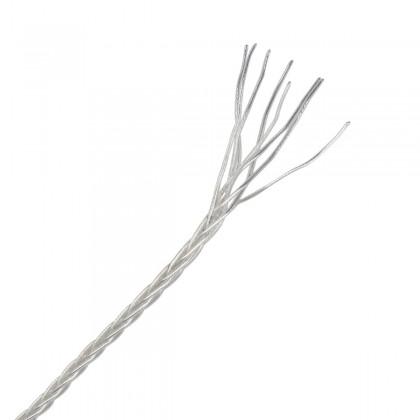 Câble de modulation asymétrique tréssé pour Casque Argent PTFE