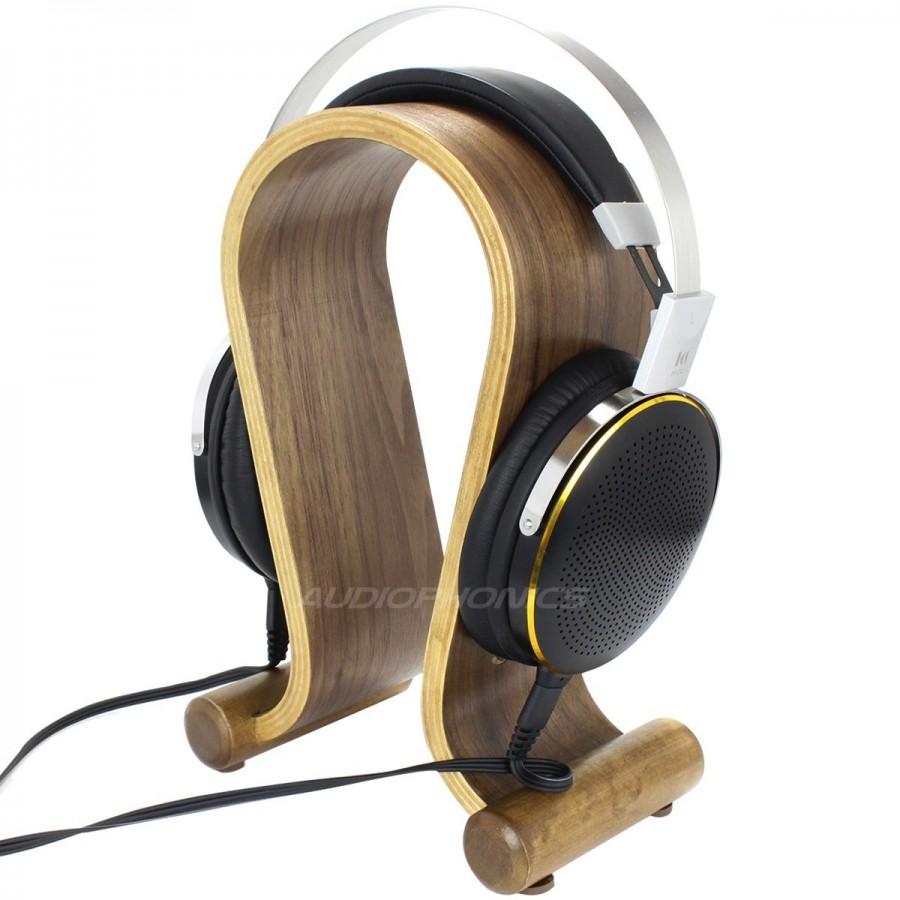 Dynavox Kh 500 Support De Casque Bois Hifi Noyer Audiophonics