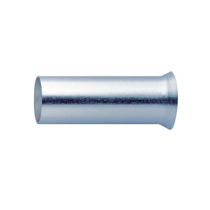 Embouts de câble plaqués Argent 6mm² (20mm) x10
