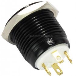 Black Aluminium Switch White Light 250V A3A