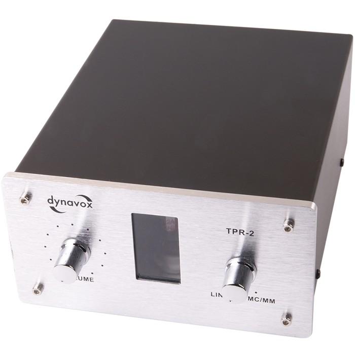 DYNAVOX TPR-2 Préamplificateur avec entrée Phono (MC/MM) Silver