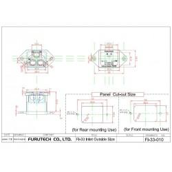 FURUTECH FI-33 (R) IEC Rhodium plated C20