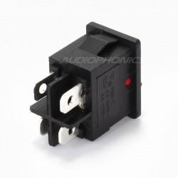 Interrupteur à bascule lumineux rouge 250V 3A
