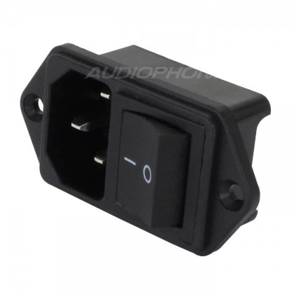 IEC C14 Power socket with Rocker Switch 250V 15A