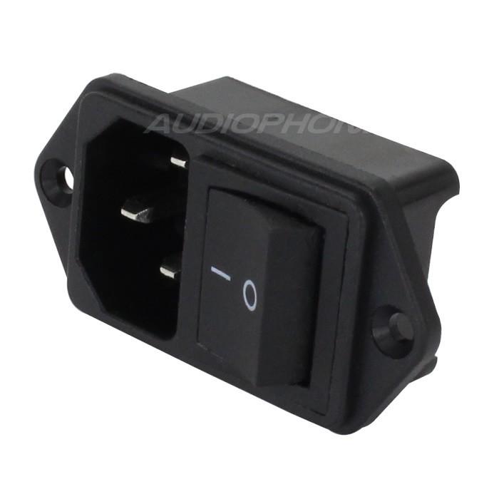 Interrupteur à Bascule IEC C14 ON-OFF 250V 10A Noir