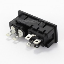 IEC C8 Power socket with Rocker Switch 250V 2.5A