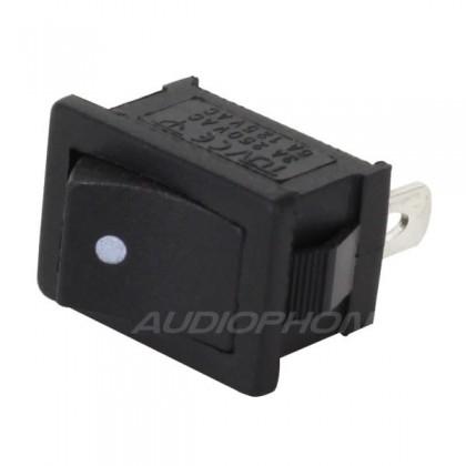 Interrupteur à bascule monostable noir 250V 3A