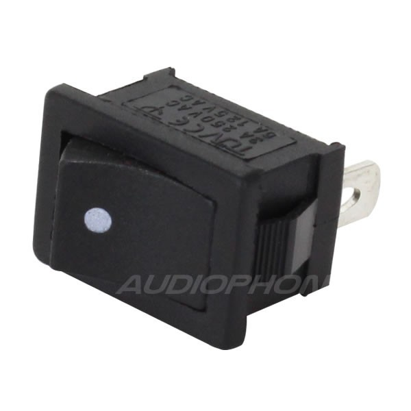 Black monostable toggle switch 250V 3A
