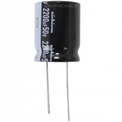 Nichicon Condensateur électrolytique Audio 50V. 2200µF