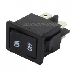 2-pole black toggle switch 250V 3A
