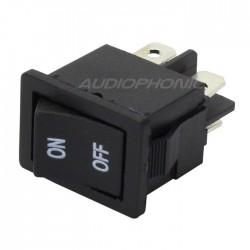 Interrupteur à bascule noir 2 pôles 250V 3A