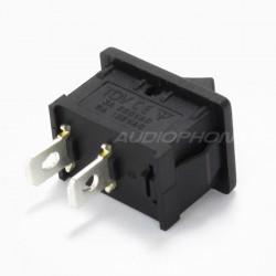 Interrupteur à bascule noir 250V 3A