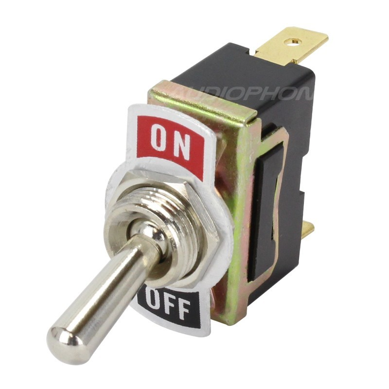 1 Pole 2 Positions Aviation Type Toggle Switch ON-OFF 250V 15A