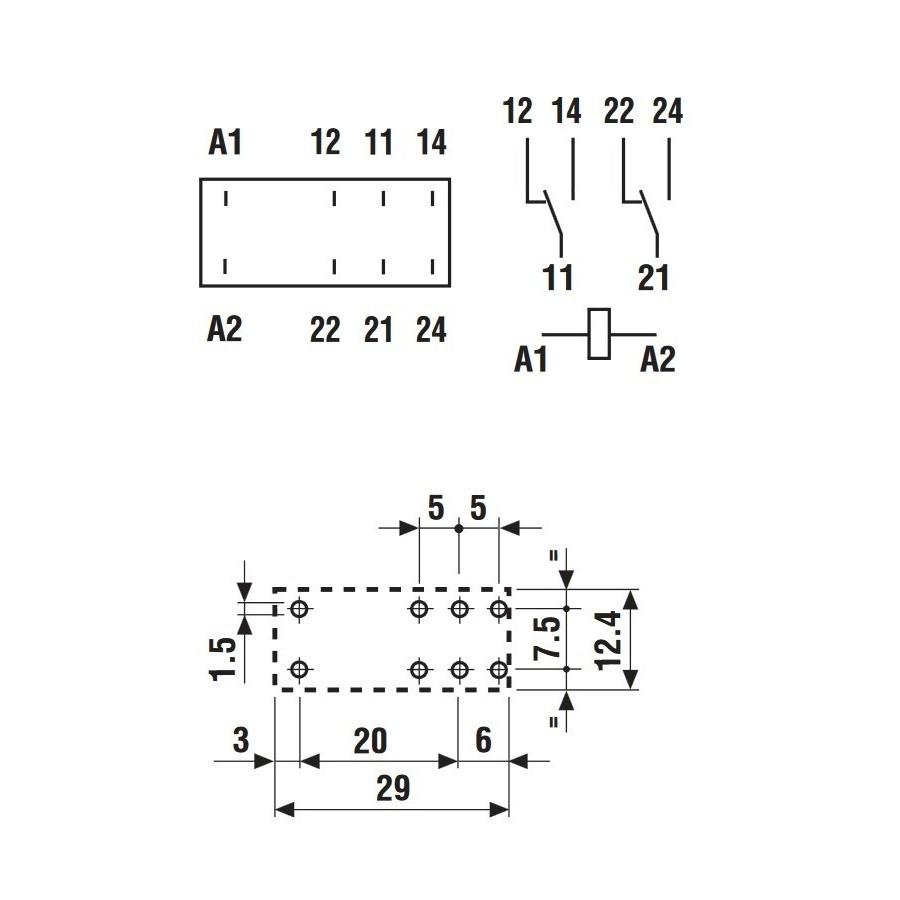 finder 40 52 relais pour pcb deux p u00f4les 12 vdc 8a