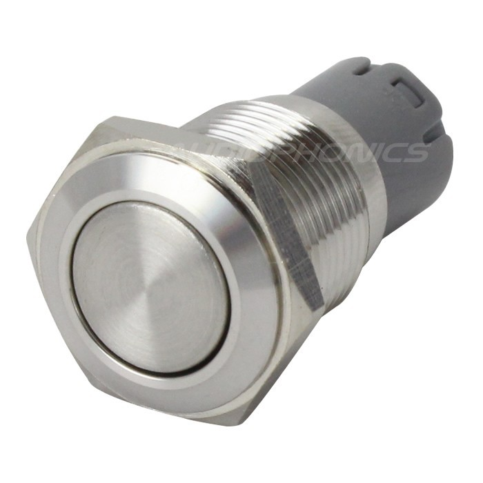 Stainless Steel Switch 2NO2NC 250V 3A Ø16mm Silver