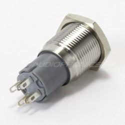 Interrupteur inox argent 250V 3A Ø16mm