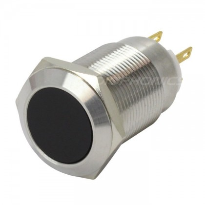 Interrupteur inox argent 250V 5A Ø19mm