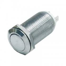 Bistable Inox Switch 1NO 36V 2A Ø12mm Silver