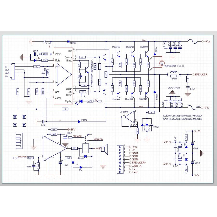 LME49810 2SC5200 Amplifier board 300W 8 ohm Mono (1 unit