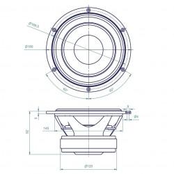 ATOHM LD165CR08Haut-parleur Boomer grave-médium 16cm (Unité)