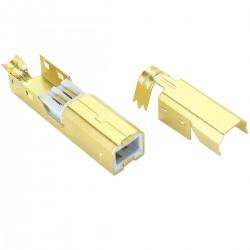 Connecteur USB mâle Type B DIY Plaqué Or 3µ