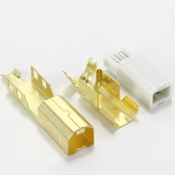 DIY USB type B Plug Gold coated