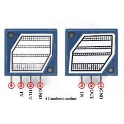 Potentiomètre volume stéréo 22 positions à résistances CMS. 50Kohm
