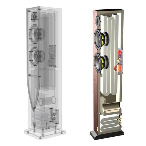 ATOHM SIROCCO 2-0 HiFi tower Speaker 250W / 6 Ohm Black (Unit)