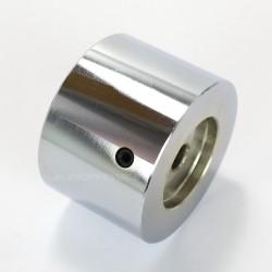 Bouton Aluminium Axe Méplat 39x30mm Ø6mm Chrome