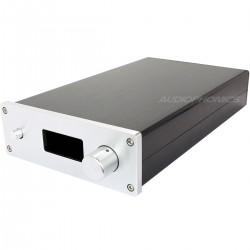 Boîtier DIY amplificateur avec Découpe Afficheur 100% Aluminium 380x168x56mm