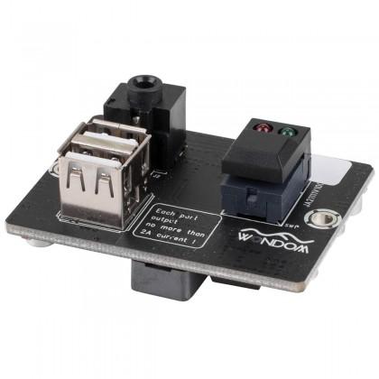 SURE JAB 2 AA-JA11112 interface d'extension jack 3.5mm/Chargeur USB