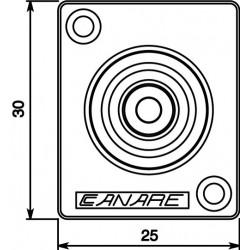 CANARE RJ-BCJRU Embase RCA Haute performance 75 Ohm