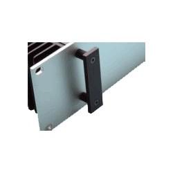 HIFI 2000 Poignées rectangulaires 4U Noir (La paire)