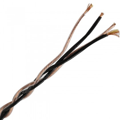 Unbalanced interconnect braided wire for Headphone OFC Copper PVC Kevlar