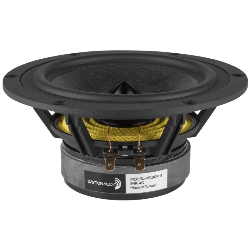 DAYTON AUDIO RS180P-4 Reference Haut-Parleur Bas Médium Papier 60W 4 Ohm 91dB 35Hz - 8000Hz Ø 18cm