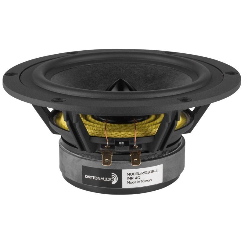 DAYTON AUDIO RS180P-4 Reference Speaker Driver Midbass Paper 60W 4 Ohm 91dB 35Hz - 8000Hz Ø18cm