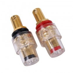 ELECAUDIO BP-202 24k Gold Plated Acrylic Insulation Terminals (Pair)
