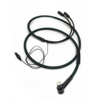 1877PHONO THE HIGHLANDS Câble Phono DIN Coudé - 2 RCA 1.2m