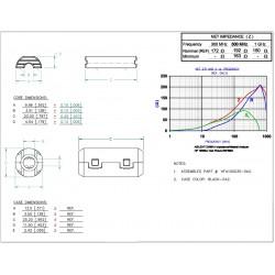 Ferrite de filtrage HF pour câble 3.5mm