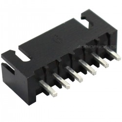 XH 2.54mm Male Socket 6 Channels Black (Unit)
