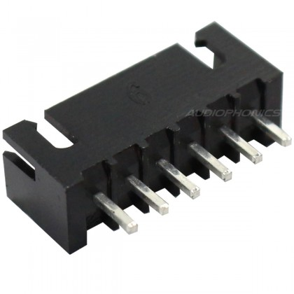 6 channels XHP male plug XHP-6/TJC3 black (Unit)