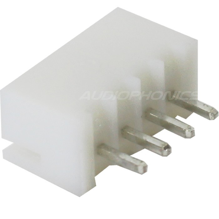 XH 2.54mm Male Socket 4 Channels White (Unit)