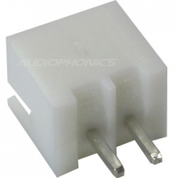 XH 2.54mm Male Socket 2 Channels White (Unit)