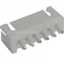 Connecteur embase XH mâle 6 voies XH-6 Blanc (Unité)
