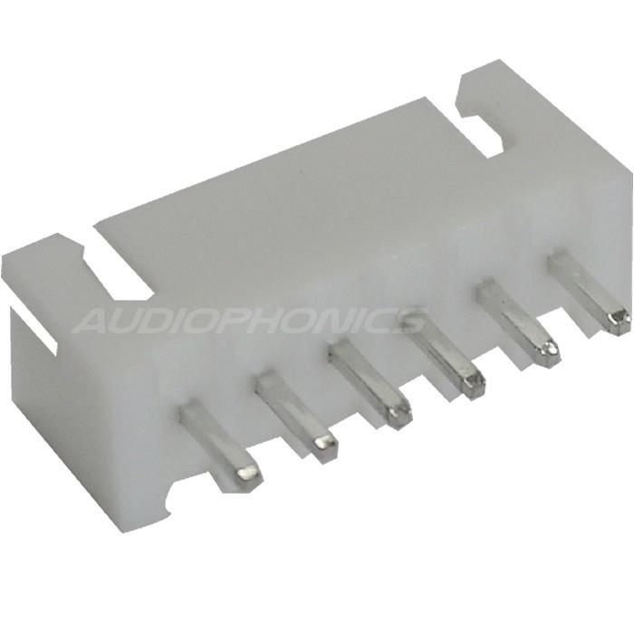 XH 2.54mm Male Socket 6 Channels White (Unit)